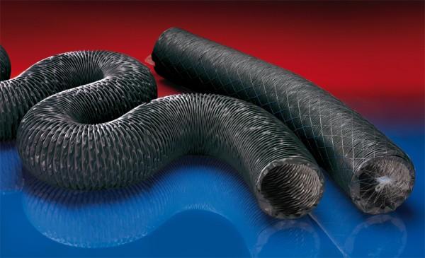 PU-Lüftungsschlauch (bis +125°C), superleicht, gewebeverstärkt; Ø 90mm; L:7,5m; PROTAPE® PUR 370