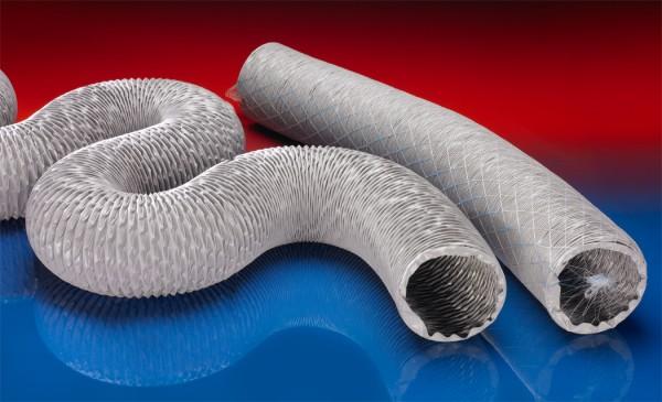 PVC-Lüftungsschlauch (bis +110°C), superleicht, gewebeverstärkt; Ø 305mm; L:10m; PROTAPE® PVC 371